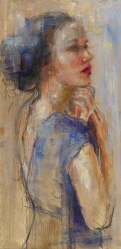 Blue Dress by Mieke Robben