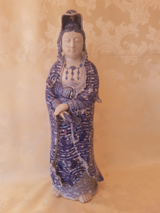 Japanese porcelain Guan Yin. Taisho period (1912-1926) by Unknown Artist