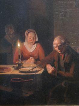The prayer before the meal by Pieter Gerardus Sjamaar