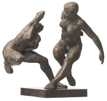 Two figures by Joris August Verdonkschot