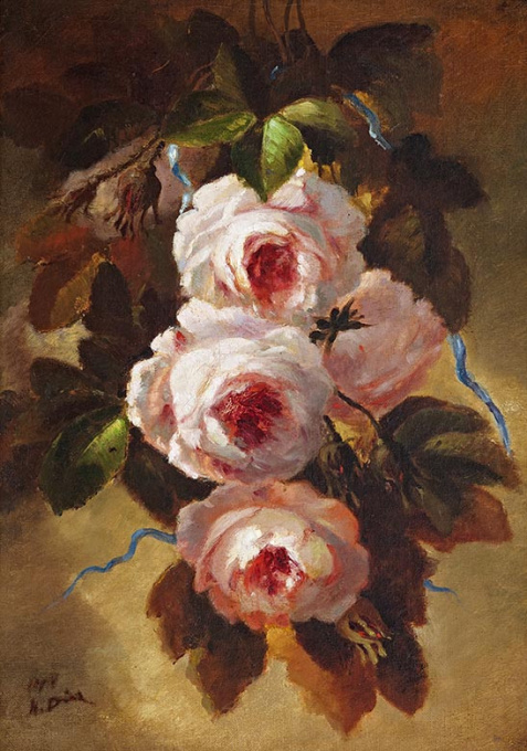 Roses by Narcisse Diaz de la Pena