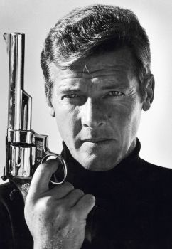 Roger Moore as James Bond (co-signed by Sir Roger Moore) by Terry O'Neill