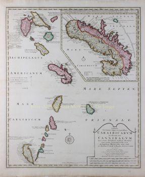 Caribbean, Windward Islands  by  Widow of Joachim Ottens