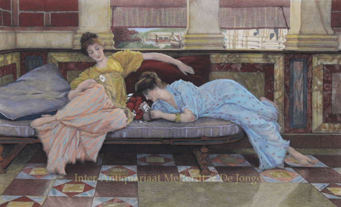 HE LOVES ME, HE LOVES ME NOT     by Lawrence Alma-Tadema