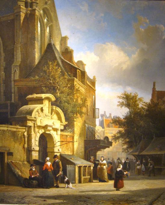 Town view, Utrecht, The Netherlands by Cornelis Springer