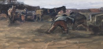 Workers on the Land by Jan Toorop