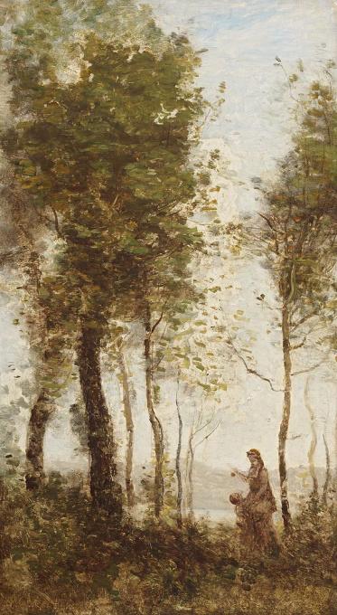 La lisière du bois by Jean-Baptiste-Camille Corot