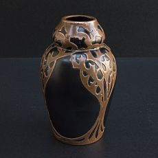 Bohemian glass vase by Unknown Artist