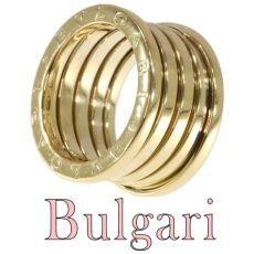 Vintage signed Bulgari ring model B.Zero.1 gas tube model by Unknown Artist