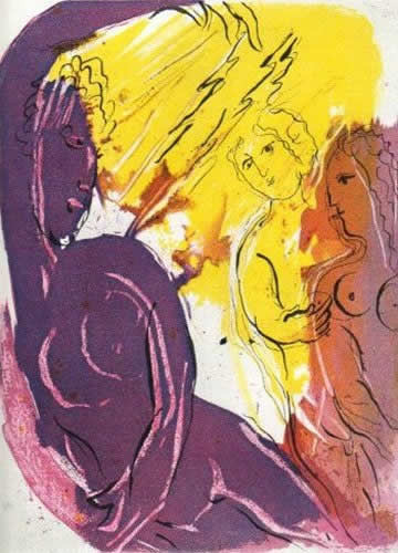 Ange du Paradis by Marc Chagall