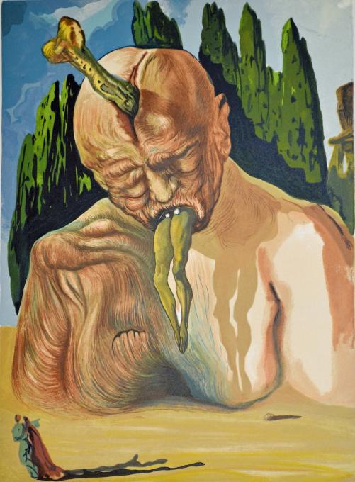Divina commedia inferno 27 by Salvador Dali