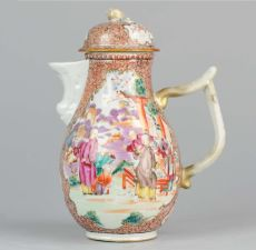 Qianlong Famille Rose Mandarin Lidded jug, (1735-1796) by Unknown Artist