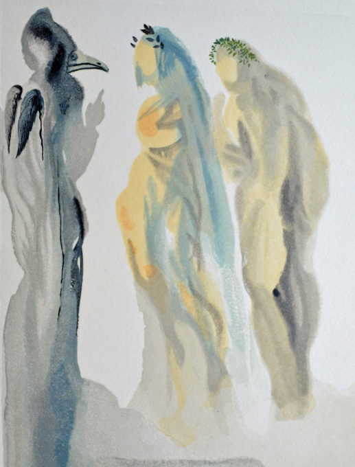 Divina commedia paradiso 09 by Salvador Dali
