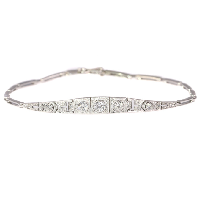 Art Deco diamond bracelet by Unknown Artist