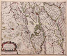 South-Holland- Brabant- Biesbosch  by  Henricus Hondius