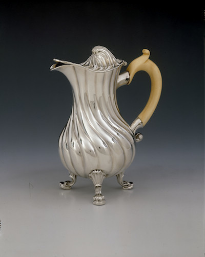 A milk jug by Jacobus Rensing