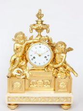 A fine French Louis XVI ormolu sculptural mantel clock after Osmond, Viger circa 1770 by Viger A Paris