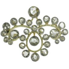 Estate rose cut diamond brooch by Unknown Artist