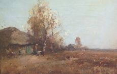 Landscape with cottage