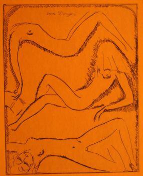 Three reclining female nudes  by Kees van Dongen