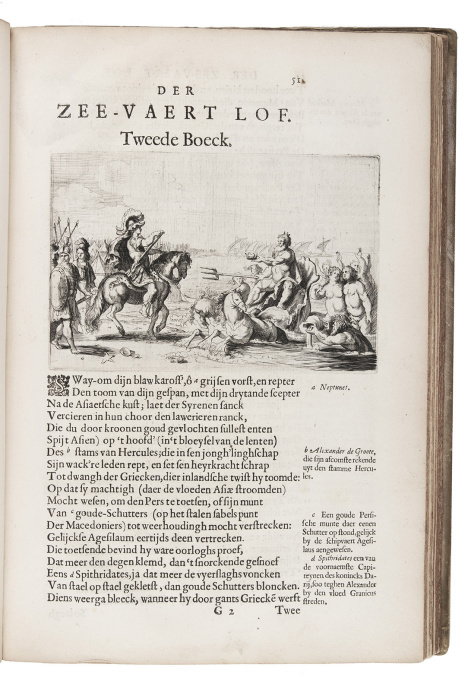 With an original Rembrandt etching made for the book, in an early impression by Elias Herckmans