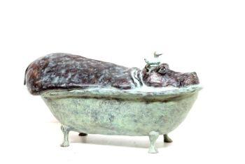 Hippo in Bath by Annemarie van der Kolk
