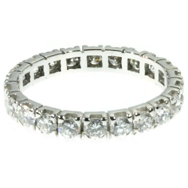 18K white gold estate eternity band with 2.20 carat diamonds by Unknown