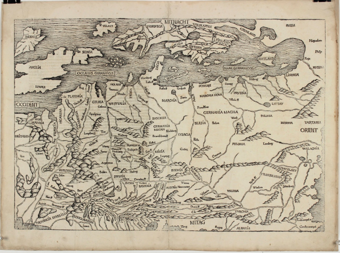Map of Northern and Central Europe by Michael Wolgemut