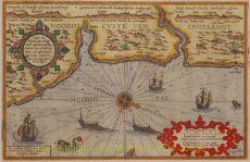 England, chart Robin Hood's Bay and Coquet Island  by  Waghenaer