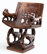A KINGDOM OF BENIN 'PRESTIGE CHAIR' by Unknown Artist