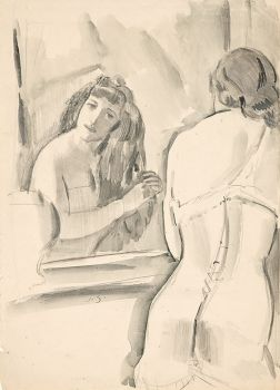 Woman in front of the mirror by Jan Sluijters