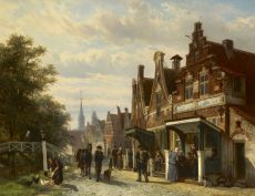 A fantasy town view of de Buren, Makkum