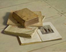 Still life with books by Henk P.N. Helmantel