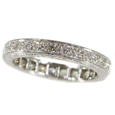 Platinum Fifties Art Deco style diamond eternity band by Unknown Artist