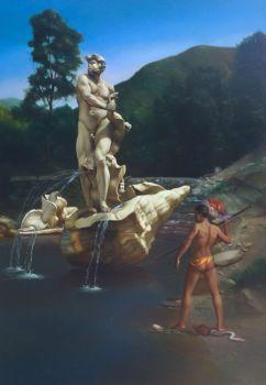 Pescatore con Fiocina by Giovanni Tommasi Ferroni