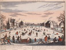 Frozen Amstel river by  Georg Gottfried Winckler after Peter Blanckert
