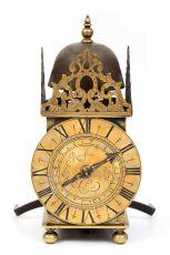 An early French lantern timepiece, Rousseau A Lyon, circa 1665 by Rousseau A Lyon