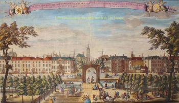 Den Haag, Malieveld, Prinsessegracht en Korte Voorhout  by  Leonard Schenk
