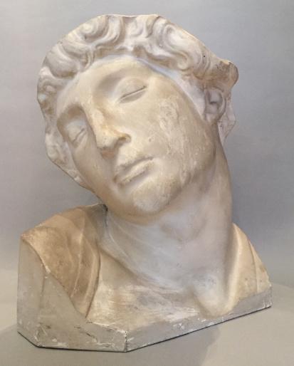 Plaster Bust of Michelangelo's Slave by Unknown Artist