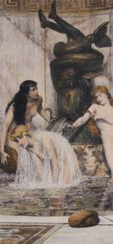 Strigils and Sponges  by Lawrence Alma-Tadema