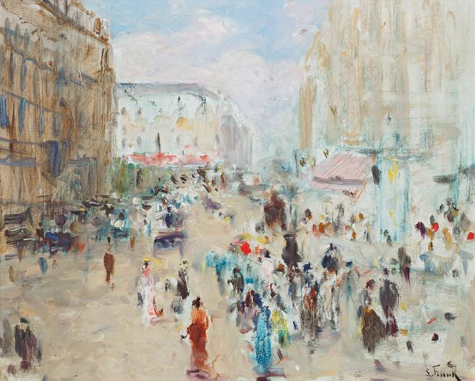 Prés de la Bourse by Lucien Frank