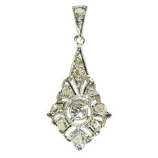 Diamond Art Deco pendant by Unknown Artist