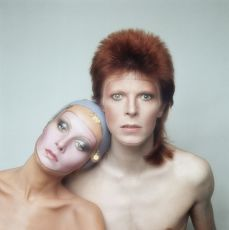 David Bowie and Twiggy - for the cover of his album Pin Ups  by Justin de Villeneuve