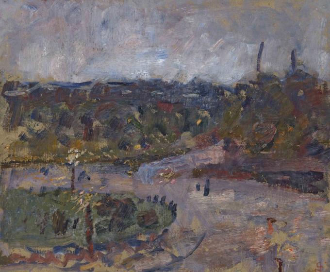 Frederik Hendrikplein, Amsterdam by Jan Sluijters