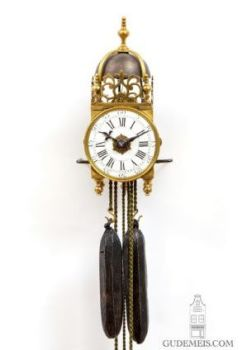 A rare miniature French brass striking and alarm lantern clock, circa 1750 by Unknown Artist