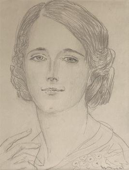Jacoba van der Vegt (1897-1970) by Willem van Konijnenburg