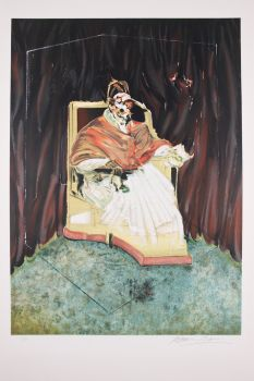 Study for Portrait of Pope Innocent X after Velasquez by Francis Bacon