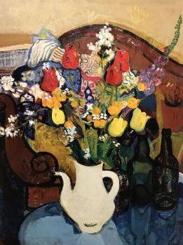 Bouquet of flowers by Léon Devos