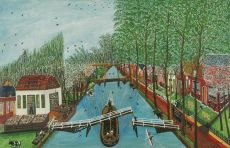 Town view Nieuwe Niedorp by Cornelis Kaay