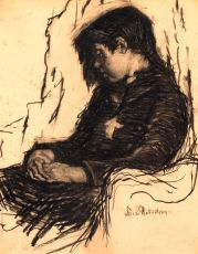 A Seated Girl by Suze Bisschop-Robertson